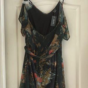 Cold shoulder maxi dress.